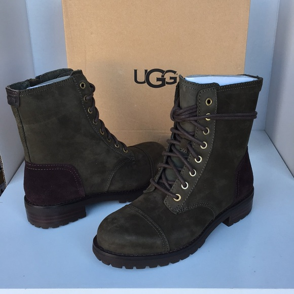6742c37246a 😍New Ugg Kilmer Moto Slate leather boots Sz 5.5 NWT